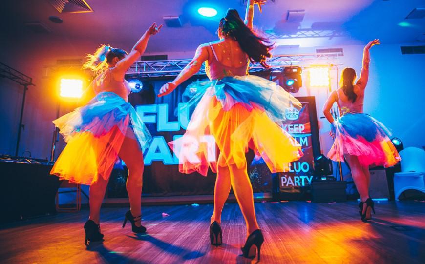 fluo party, atrakcja imprezy firmowej
